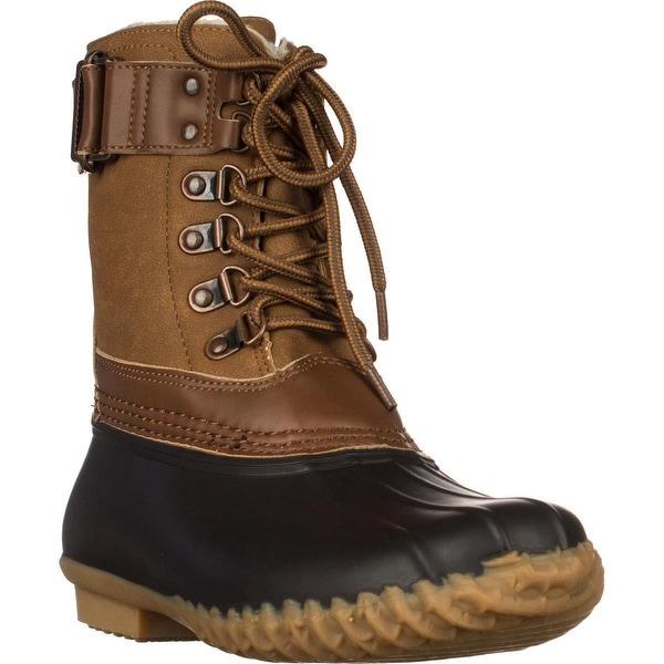Jambu Nova Scotia Short Rain Boots, Brown/Whiskey