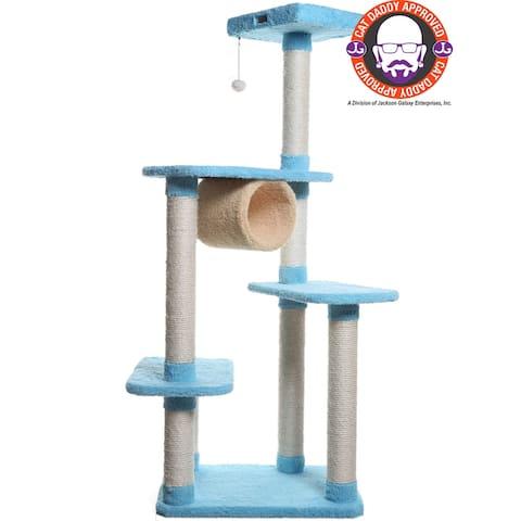 Armarkat Premium Sky-Blue Cat Condo Pet Furniture - 61 Inch