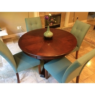 Furniture of America Primrose Brown Cherry Finish Round Dining Table
