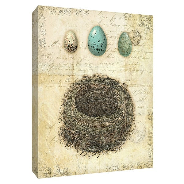 "PTM Images 9-154896 PTM Canvas Collection 10"" x 8"" - ""Spring Nests II"" Giclee Eggs Art Print on Canvas"