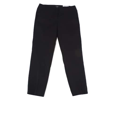 XOXO Solid Black Size 5/6 Juniors Stretch Ankle Length Trousers