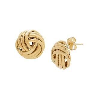 Love Knot Stud Earrings in 10K Gold - Yellow