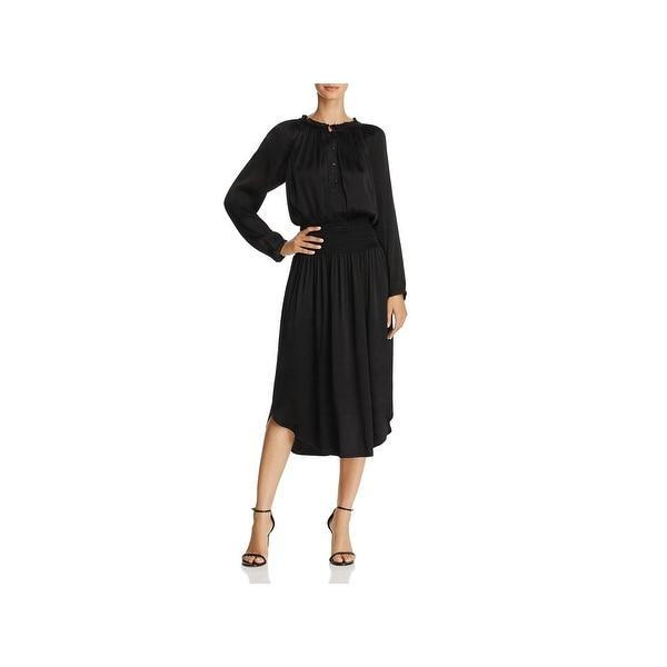 b56c4ddb902c Shop Beltaine Womens Midi Dress Satin Blouson - On Sale - Free ...
