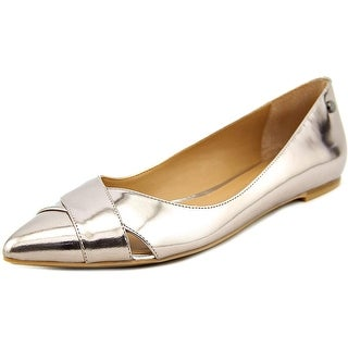 Calvin Klein Gailia Pointed Toe Leather Flats