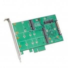 Syba 3.5-inch SATA 7 x15 pin Connector to Dual M.2 NGFF SSD/ Dual mSATA SSD RAID Adapter ASMedia 1092R Chipset