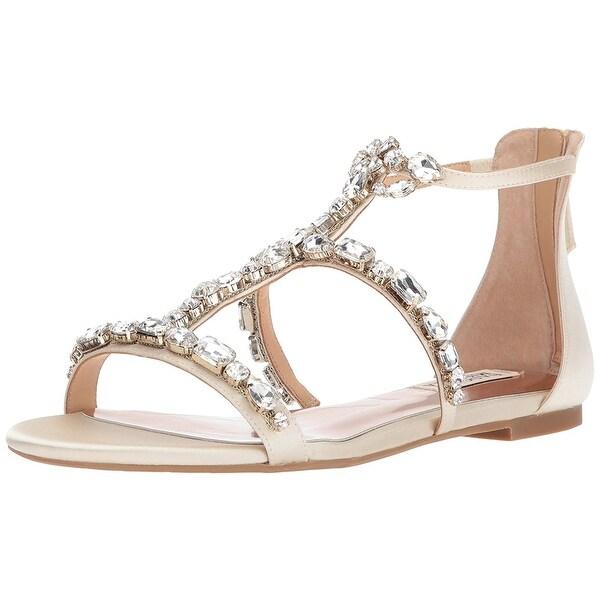 Badgley Mischka Women's Waren Flat Sandal - 7.5
