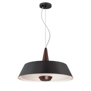 "Forecast Lighting FC0080030 3 Light 22"" Wide Pendant from the Rustique Collection - Black"