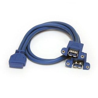 Startech.Com Usb3spnlafhd 2 Port Panel Mount Usb 3.0 Cable - Usb A To Motherboard Header Cable F/F