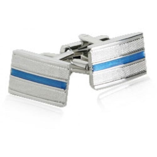 Unique Design Blue Stripe Cufflinks