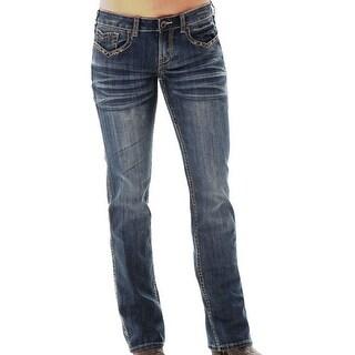 Cowgirl Tuff Western Denim Jeans Womens Triple LLL Give Back