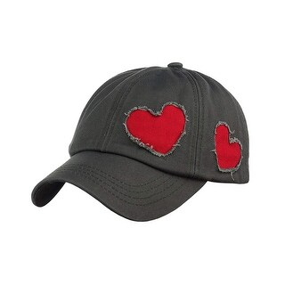 C.C Women's Heart Cut Design Cotton Baseball Cap Hat
