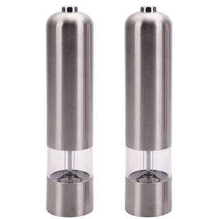 Link to Silvertone Stainless Steel Electric Automatic Pepper Mill and Salt Grinder Similar Items in Serveware
