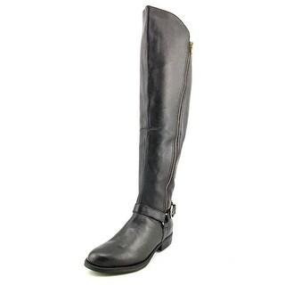 Steve Madden Skippur Round Toe Leather Knee High Boot