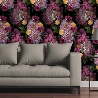 "Circle Art Group Removable Wallpaper Tile - Photo Flowers I - Multi-color - 24"" x 48"""