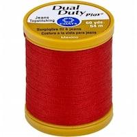 Coats 1750 Dual Duty Plus Jean & Topstitching Thread 60yd-Red