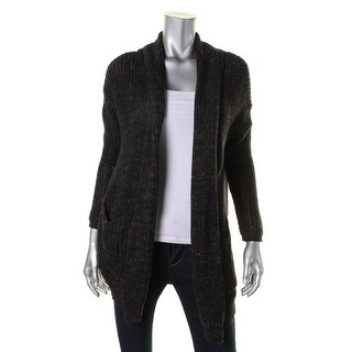 Denim & Supply Ralph Lauren Womens Cardigan Sweater Heathered Ribbed Knit - s