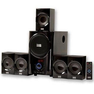Acoustic Audio AA5160 Home Theater 5.1 Speaker System with USB / SD Surround Sound (Refurbished)