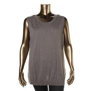 August Silk Womens Plus Shell Modal Blend Sleeveless
