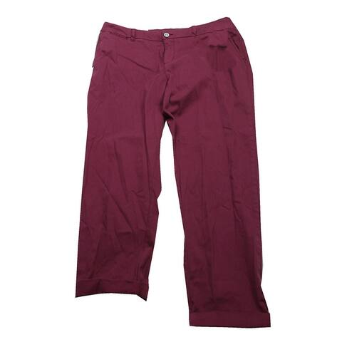 Style & Co Pale Raspberry Cuffed Colored Pants 12