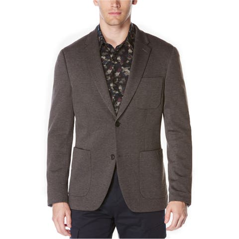 Perry Ellis Mens Knit Two Button Blazer Jacket - 44 Regular