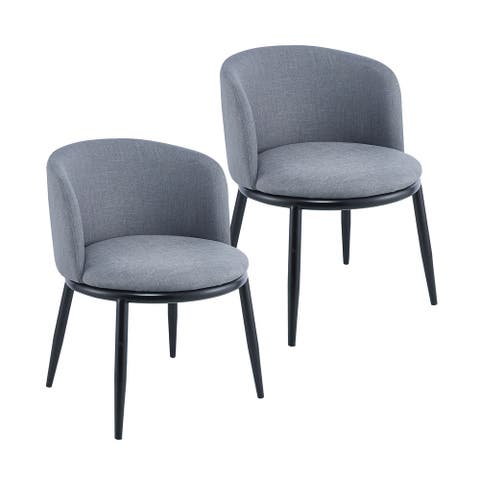 Porthos Home Danyl Set Of 2 Dining Chairs, Fabric Covering, Iron Legs