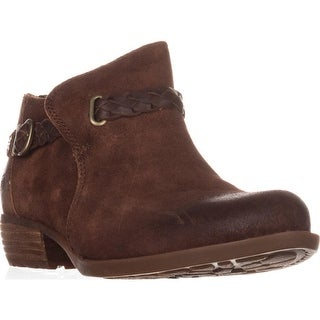 Born Sylvia Low Rise Western Ankle Boots, Rust