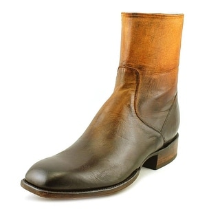 Lucchese Porter Square Toe Leather Mid Calf Boot