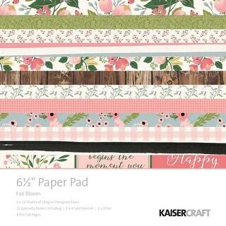 "Full Bloom - Kaisercraft Paper Pad 6.5""X6.5"" 40/Pkg"