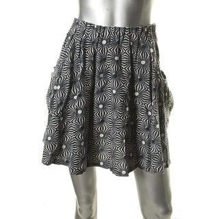 Free People Womens Pattern Above Knee A-Line Skirt