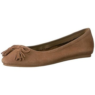 Crocs Womens Lina Ballet Flats Suede Round Toe