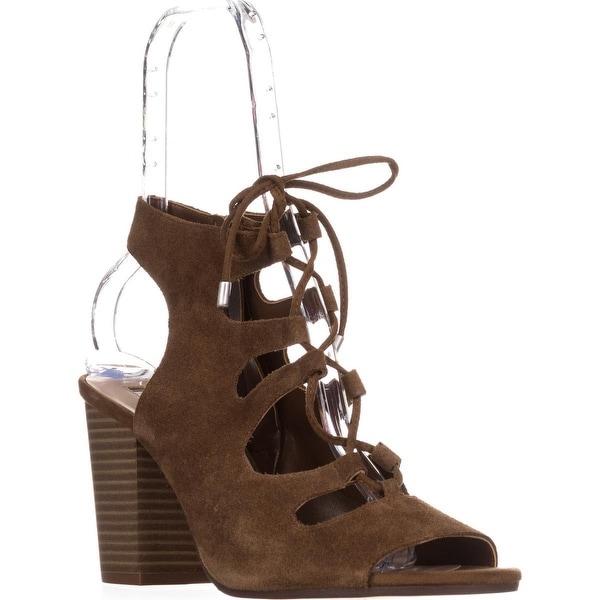 I35 Radka Lace-Up Dress Sandals, Toffee