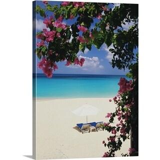 Premium Thick-Wrap Canvas entitled Tropical beach