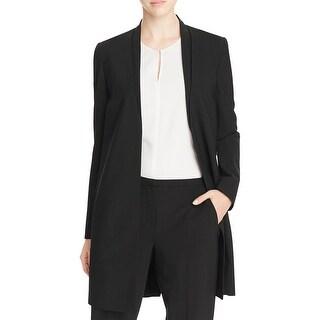 Elie Tahari Womens Blazer Wool Pleated