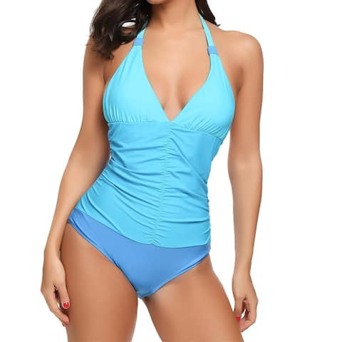 Avidlove Brown Womens Size Medium M Color Block One-Piece Swimsuit