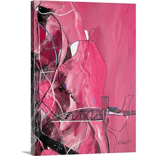 """Bridge Over Troubled Water - Pink"" Canvas Wall Art"