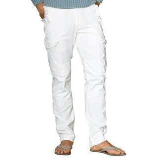 Polo Ralph Lauren RL Mens Straight Fit Ripstop Cargo Pants White 40 x 32