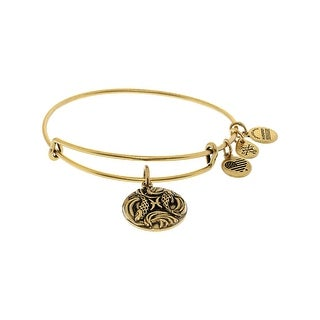 "Alex And Ani Women's Zodiac Pisces 3 Bangle Bracelet - 7"" - Gold"