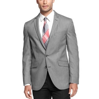 Kenneth Cole Reaction Slim Fit Black and White Check Sportcoat 40 Long 40L
