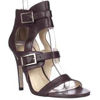 Ivanka Trump Donalu Ankle Cuff Dress Sandals - Dark Red
