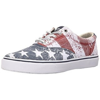 Sperry Mens Stars & Stripe Canvas Lace Up Fashion Sneakers - 8 medium (d)
