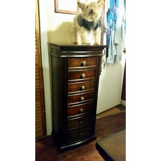 Hives Honey Landry Walnut Jewelry Armoire Free Shipping Today