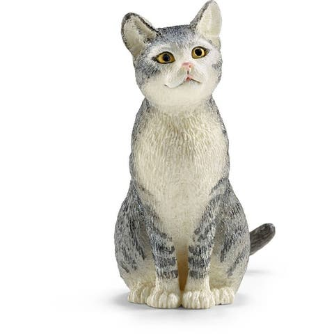 Schleich 13771 Sitting Cat Toy Figure, For Ages 3+