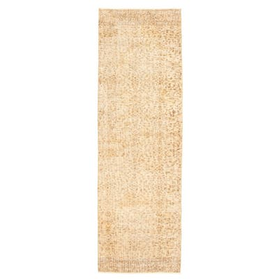 ECARPETGALLERY Hand-knotted Melis Vintage Ivory Wool Rug - 2'8 x 8'8
