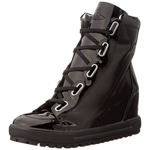 Vivienne Westwood NEW Black Women's Shoes Size 5M Wedge Bootie