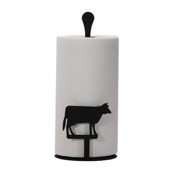 Village Wrought Iron Pt C 5 Paper Towel Holder Cow Silhouette