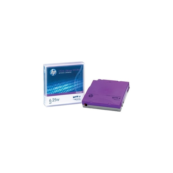 Hewlett Packard C7976W HP LTO-6 Ultrium 6.25TB MP WORM Data Cartridge - LTO-6 -