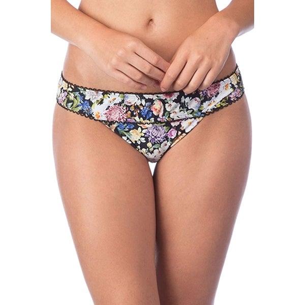 Lucky Brand Black Womens Size Small S Bikini Bottom Swimwear