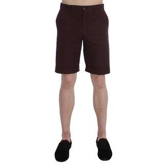 Dolce & Gabbana Bordeaux Cotton Above Knees Casual Shorts
