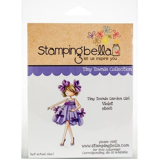 Stamping Bella Cling Stamps-Tiny Townie Garden Girl Violet