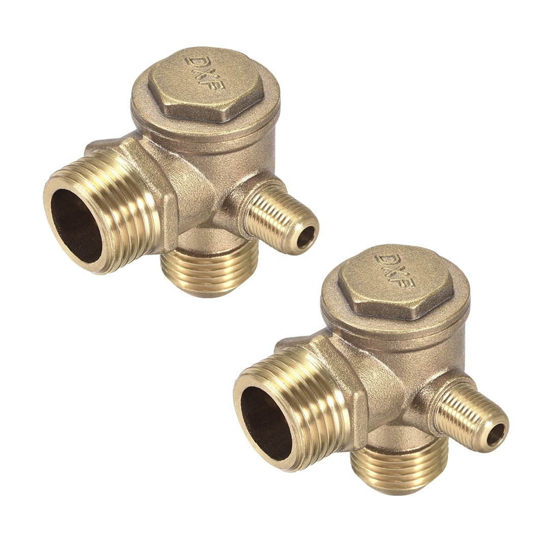 YINGJUN Valves Male Thread 90 Degree Brass Air Compressor Check Valve Spare Parts 201910mm Brass Check Valve